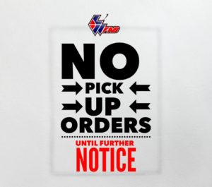 No Pick Up Orders